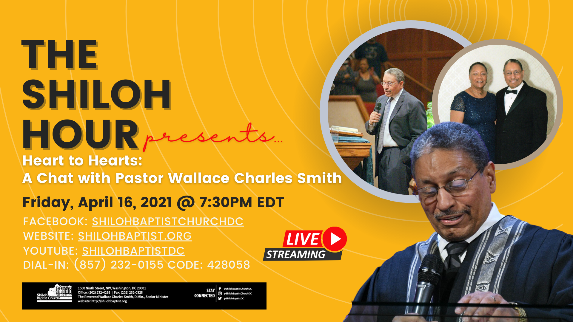 The Shiloh Hour presents: Heart to Hearts…A Chat with Pastor Wallace Charles Smith
